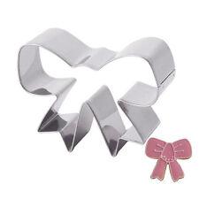 DIY Packed Cookie Stainless Steel Cutter Kuchen Schokolade Mold Prize Bowknot DT