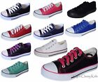 New Boys Girls Youth Classic Low Top Canvas Tennis Shoes Lace Up Sneakers Kids