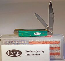 Case XX Spar XX Green Pearl Kirinite Smooth Peanut Pocket Knife