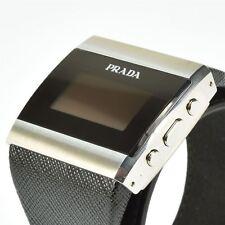 Luxury PRADA Smart Watch Brand New T950 Link Bluetooth - Saffiano Leather Strap