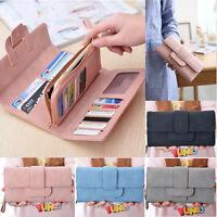 Mode Cuir Femme Porte-carte Crédit Monnaie Portefeuille Pochette Long Sac à Main