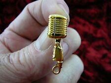 (M-8-A) SHURE 55SH Mic Microphone tac pin Jewelry 24k GOLD Plt classic mics 55