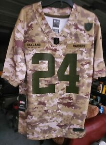Oakland Raiders Salute To Service Jersey Youth Size Large