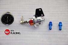 Universal Type S Fuel Pressure Regulator Kit with Oil Gauge &Fittings Silver