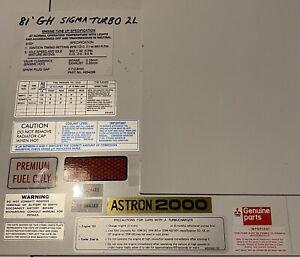 Mitsubishi Sigma GH Turbo Sticker Set 2.0L Resto Kit