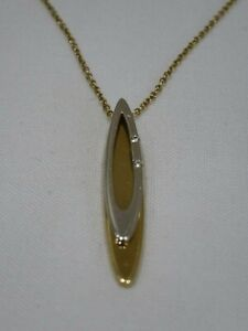 """9ct GOLD NECKLACE PENDANT 18"""" LONG HALLMARKED"""