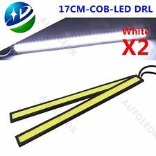 A Pair Waterproof 12V COB White Car LED Lights for DRL Fog Driving Lamp 17CM New