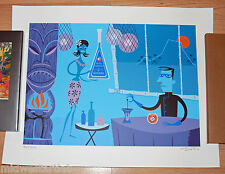 Josh Agle SHAG Art Print Mr. Blue Tiki Drink Poster S/# 200 17 Color Serigraph