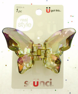 Scunci Hair Styling Butterfly Claw Clip ~ Very Pretty ~ Iridescent