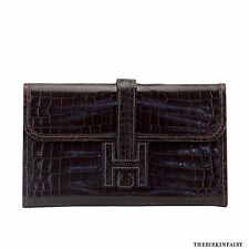 AUTHENTIC HERMES Cocoan Mini Crocodile Jige Clutch
