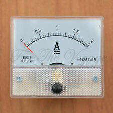 0- 2A DC Ammeter Amp Current Panel Meter Analogue Analog Clear NEW