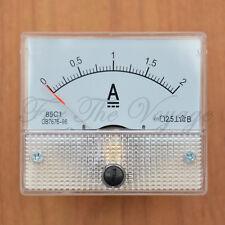 0 - 2A DC AMPEROMETRO Amp corrente pannello Misuratore Analogico Analogico Chiaro Nuovo