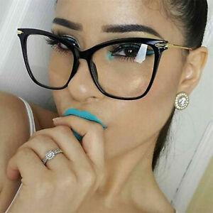 Cat Eyeglasses Oversized Metal Frames Optical Fearless Clear Lens Women Eyewears
