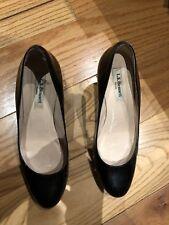 L.K. Bennett Pumps Metallic Black Leather Wedge Shoes 37EU - 4UK