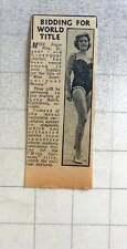 1960 Miss Joyce Kay, 21-year-old Liverpool Teacher International Beauty