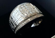 Superb Large & Heavy 18ct White Gold and Diamond Set Band  Ring 21.7 Grams