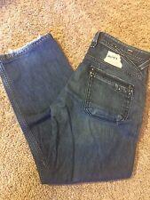 Men's VGUC DIESEL Sz 31/30 Busky Stretch Distressed Straight Leg Jeans