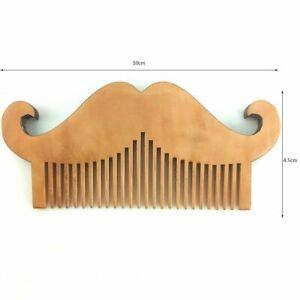 Natural Wood Hair Brush Green Pear Comb For Men Beard Care Anti-Static Tools