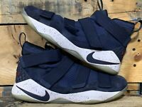 Nike Lebron Soldier XI College Navy Men's Size 13 Athletic Shoe USED 897644 401