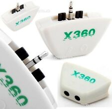 Microphone/Headphone/Headset/Mic/Live Controller Converter Adapter For Xbox 360