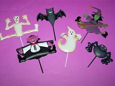 Halloween Cupcake Cake Picks toppers Metal Great New Witch dracula ghost bat etc