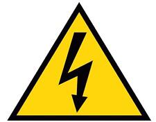 N°10 Segnaletica pericolo corrente ADESIVO 140x140.Sticker danger electricity