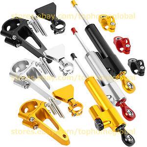 For Honda CBR600 F4i 01-07 Steering Damper Stabilizer Mounting Bracket Set CNC