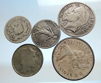 GROUP LOT of 5 Old SILVER Europe or Other WORLD Coins for your COLLECTION i74383