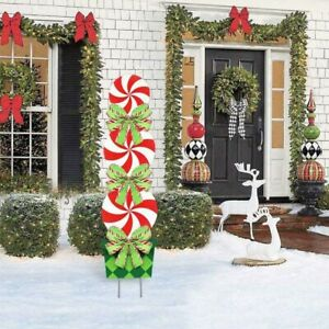 Lollipop Candy Cane Christmas Holiday Decorations Outdoor Peppermint Xmas Yard