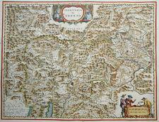 ITALIEN TERRITORIO DI TRENTO LAGO DI GARDA BLAEU FIGUREN KARTUSCHE BISCHÖFE 1640