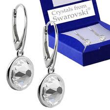 925 Sterling Silver Leverback Earrings Xirius Crystal Clear Swarovski® Crystals