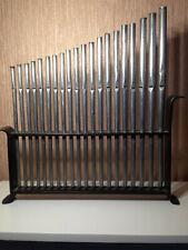 Orgel pfeifen 20 alte Orgel pfeifen im Ständer spielbar 37cm bis 27 cm