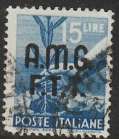 Stamp Italy Trieste SC 010 Allied Military Government Free Territory AMGFTT Used