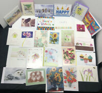 Lot Of 95 Assorted Greeting Cards Birthday, Friendship Each W/ Own Envelopes