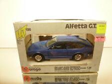 BBURAGO 0136 ALFA ROMEO ALFETTA GT - BLUE 1:24 - GOOD CONDITION IN BOX