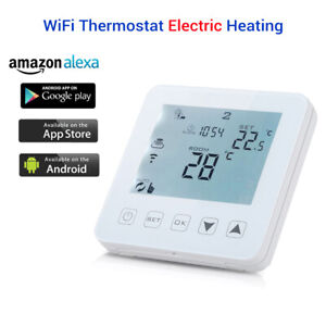 WiFi Programmable Thermostat Electric Touch Screen Wireless Alexa Room Tools
