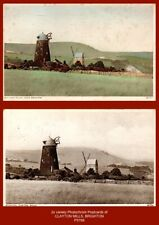 CLAYTON WINDMILLS, Hassocks near Brighton, West Sussex - 2x early Postcards