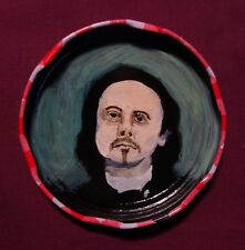 ALFRED JARRY Jam Jar Lid Portrait, Literary, New Orleans Outsider Art PETER ORR