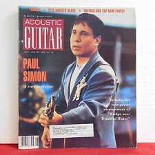 Paul Simon Acoustic Guitar Magazine Ferron Etta Baker July/August 1993 VERY RARE