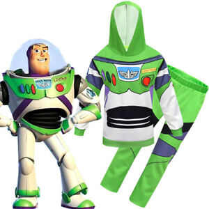 Buzz Lightyear/Woody/Toy Story Kids Boys Party Cosplay Costume Hoodie FancyDress