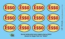 """[FFSMC Productions] H0 scale - 1/87 Decals pour Wagon-Citerne """"ESSO"""""""
