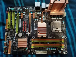 CPU And MOTHERBOARD Q6600 2.4ghz And Biostar IP45 77 Bundle