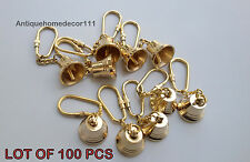 Collectible Brass Working Bell Key Chain Marine Nautical Lot Of 100 Pcs Gift ...