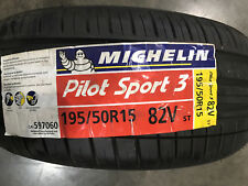 2 New 195 50 15 Michelin Pilot Sport-3 Tires