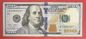 """US Banknotes $100 Bill 2009-A Replacement ⭐️ """"B2 - New York"""" VF-XF (#2577)"""