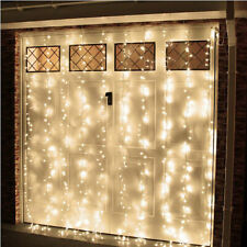 Warm White 304LED 3x3M Fairy Curtain String Lights Wedding Party Holiday 8Modes