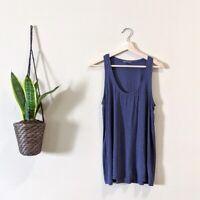 Vince Women's Size Large Knit Blue Scoop Neck Sleeveless Jersey Tank Top