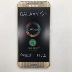 Samsung Galaxy S6 SM-G920 32GB (Unlocked) Smartphone Black Gold Blue
