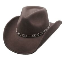 Men's Wool Cowboy Hat Silverado Brown Shapeable Western Hats by Silver Canyon