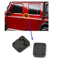 2PCS Black Rubber Car Door Hinges for 1:10 RC Crawler Traxxas TRX-4 TRX4